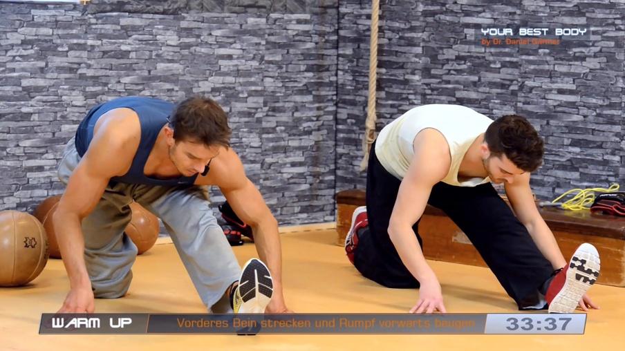 Stretching ist ein wichtiger Bestandteil im Kickbox-Training
